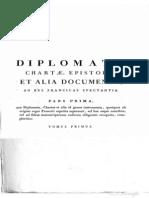 Diplomata Chartae Epistolae Et Alia Documenta, Ad res Francicas Spectantia 1 (475- 721)
