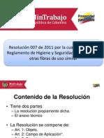 Resolución 007 2011 Reglamento Crisotilo
