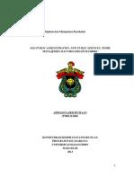 Pengertian Old Public Administrartin New Public Service