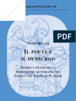 Mario Regali - Il Poeta e il Demiurgo. Teoria e prassi della produzione letteraria nel Timeo e nel Crizia di Platone