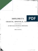 Diplomata, Chartae, Epistolae, Leges, Aliaque Instrumenta, Ad res Gallo-Francicas Spectantia 2 (628-726)