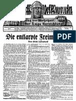 1930 Nr. 46, Die entlarvte Freimaurerei; Ludendorffs Volkswarte, A3 Format