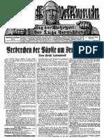 1930 Nr. 51, Verbrechen der Päpste am Deutschen Volk; Ludendorffs Volkswarte, A3 Format