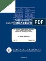 MEISEL ROCA -ESTUDIOS SOBRE HISTORIA ECONÓMICA DESDE 1900