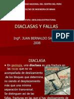 Diaclasas y Fallas