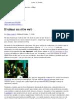 Evaluar Un Sitio Web