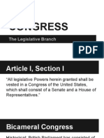 congress- the legislative branch