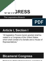 congress- the legislative branch