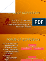 Different forms of corrosion