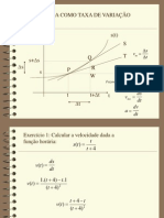 aula a derivada como taxa de variação