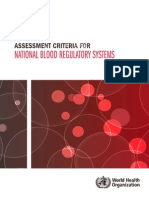 WHO_OMS - 2012 - Assessment Criteria for National Blood Regulatory Systems