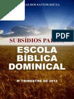 Subsidios EBD 4 Trim 2013