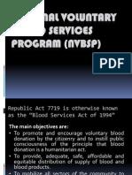 National Voluntary Blood Services Program (NVBSP).ppt