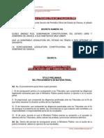 Oaxaca Codigo Procedimientos Penales