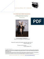 Gomoll PosthumanPerformance TotalArtJournal Vol.1 No.1 Summer2011