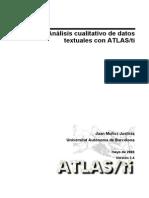 Análisis Cualitativo de datos textuales - ATLAS TI
