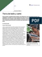 Argentina. Los Cuatro Puntos Cardinales Del Folklore Tierra de Baile y Canto