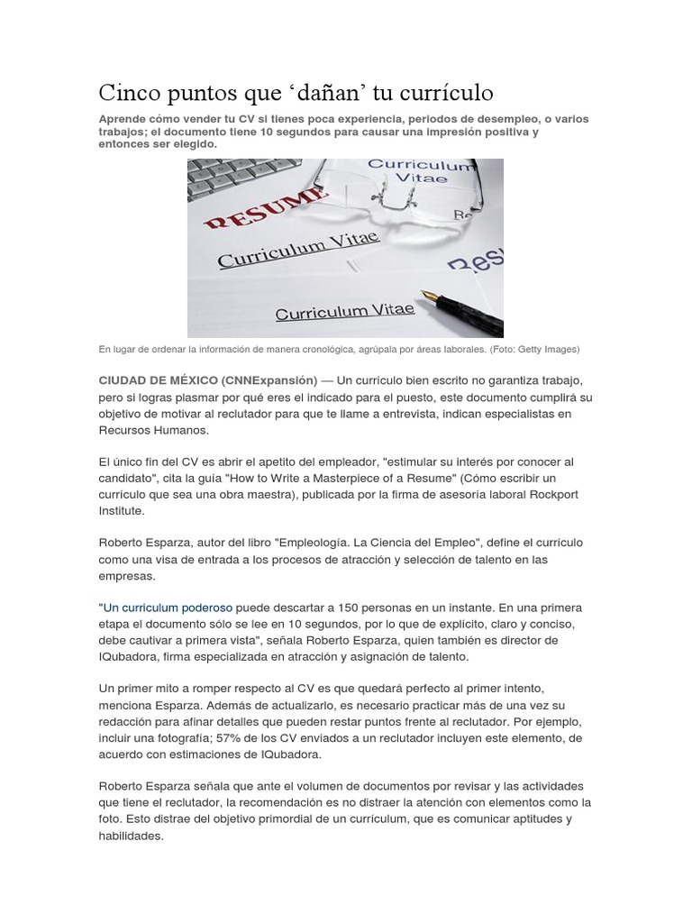 Lujoso Curriculum De Desempleo Modelo - Ejemplo De Colección De ...