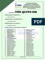 LISTADO NOMINACIONES PROVINCIA PICHINCHA - CANTÓN QUITO DM