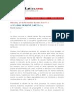 A 25 años de René Arteaga I