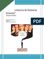 l a Importancia de Llamarse Ernesto