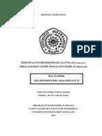 Pemanfaatan Bioteknologi Pangan Jagung (Zea Mays Sp ) Sebagai Bahan Tempe Pengganti Kedelai()