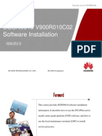 OWB091004(Slide)SGSN9810 V900R010C02 Software Installation 20101105 B V2.0