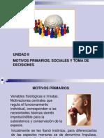 Motivos Primarios Sociales y Toma de Decisiones