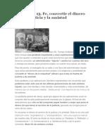 Dom 22 IX 13. Fe, Convertir El Dinero Para La Justicia y La Amistad