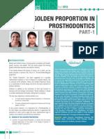 GolDen ProportIon in ProsthoDontICs Part-1
