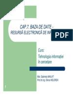 Cap7 Baze de Date TIC 2010