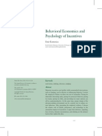 Behavioral Economics and Psycgological Incentives