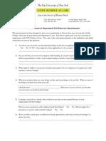 Exit Questionnaire Form
