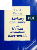 Advisory Committee on Human Radiation Experiments Final Report (Original)