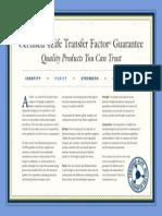 transfer factor certification