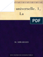 Morale Universelle. 1, La (French Edition) - Mirabaud, M