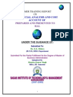 R.S HAL financial analysis and cost account.doc