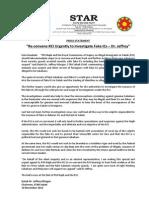 PressRelease 2013:Re-convene RCI to Investigate Fake ICs - Jeffrey, 10 Nov 2013