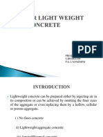 CELLULAR LIGHT WEIGHT CONCRETE PRESENTATION