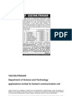 Notification Vigyan Prasar Editor Web Developer Office Asst Media Co Ordinator Posts