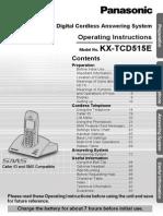 Panasonic KX-TCD515 manual