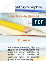 Instructional Supervisory Plan - Ericson Sabacan (1)