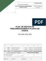 P01-S034-16!02!1003_0-Plan de Gestion de Precomisionamient de Planta de Oxidos