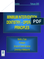 Minimal Intervention Dentistry