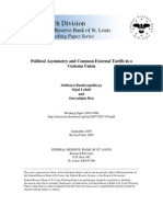 Political Assymetry and Common External Tariffs in a Customs UNion