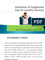 Organization of Linen & Laundry Services In Hospital