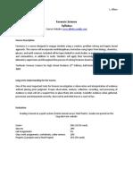 alfaro forensics curriculum