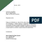 Carta de Presentacion N