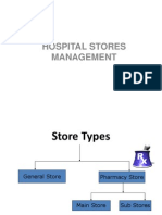 STORE MANAGEMENT IN HOSPITALS