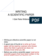 Guidelines for Writing a Scientific Paper (Raka 2011).ppt